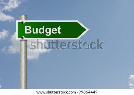 An American road sign with sky background and copy space for your message, Road map to making your budget