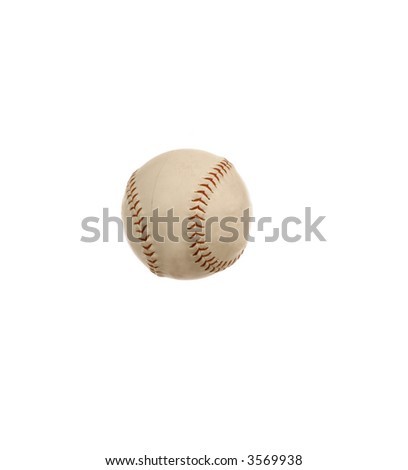An american softball isolated over white
