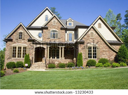An american style residential home stock photo 13230433 for Residential house styles