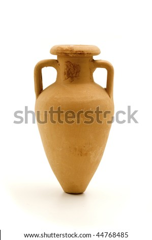 An amphora on a white background
