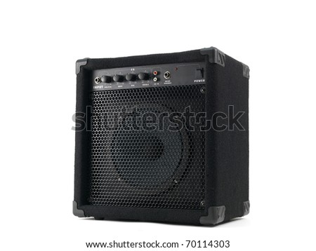 An amplifier isolated against a white background