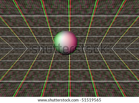 An anaglyph 3d image