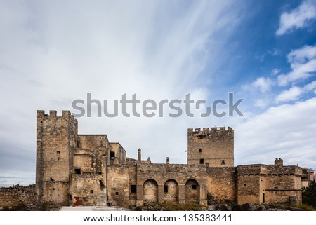 An ancient castle in the city of Grottaglie, in the south of italy
