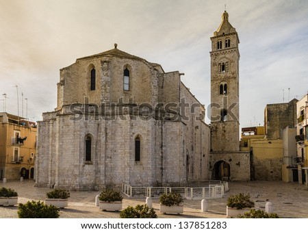 an ancient church located in a town named Barletta, in italy