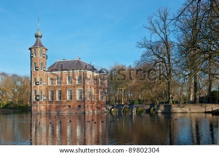 An ancient Dutch castle with a moat on the outskirts of the city of Breda. The castle dates from the 15th century.