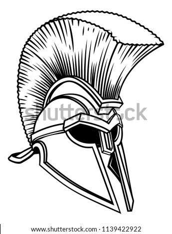 Royalty Free Vintage Hand Drawn Spartan Helmet 323505479 Stock