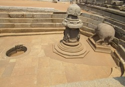 an ancient water tank at Mahabalipuram which is more than 1000 yeard old
