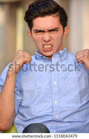 An Angry Upset Asian Male #1518063479