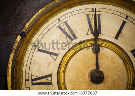 an antique clock face with gold gilding and roman numerals ez canvas