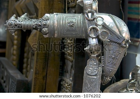 An antique khanjar (traditional dagger) in Muscat, Oman.