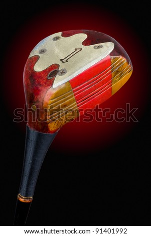 An antique, persimmon golf driver. Includes working path.