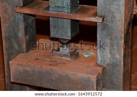 An Antique Screw Mint Press Zdjęcia stock ©