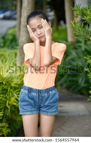 An Anxious Beautiful Diverse Female