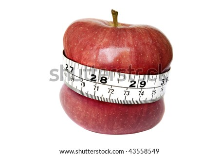 an apple digitally manipulated to�suggest weight loss.