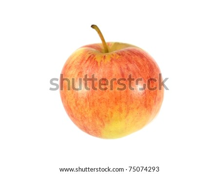 An apple isolated against a white background - stock photo
