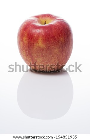 an apple on white background