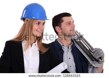 An architect and her foreman.