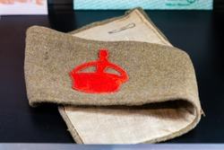 An arm band from the Derby Scheme volunteer experiment in WW1, 1915