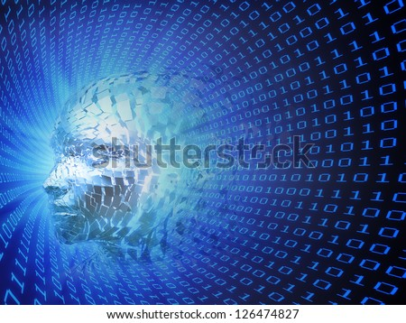 An artificial intelligence concept illustration