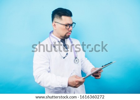 An Asian male doctor,Male doctor with stethoscope