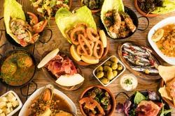 An assortment of Spanish tapas