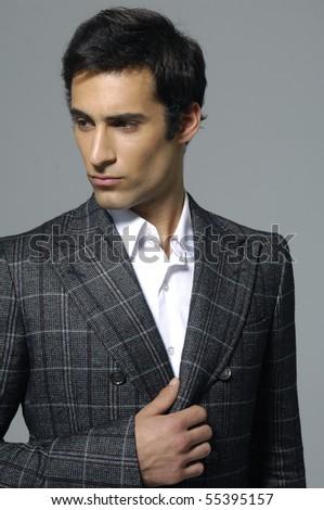 An attractive fashion man shot in studio