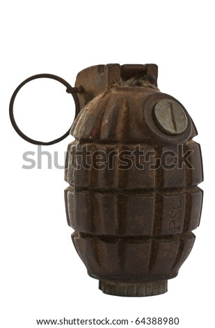 An authentic antique No. 36M MkI Mills Bomb or as most commonly know, hand grenade, from 1940