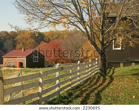 An Autumn view of the historic Longstreet Farm in Holmdel, New Jersey.