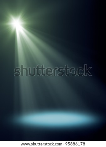 An background image with a blue stage light