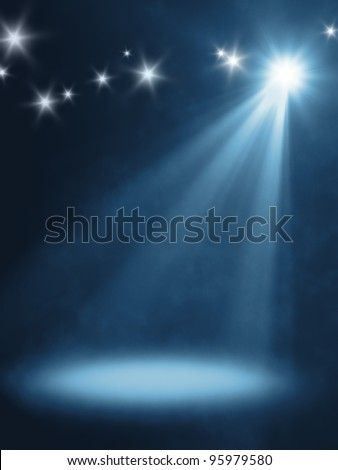 An background image with a orange stage light