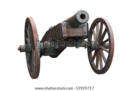 an cannon isolated on white background #53929717