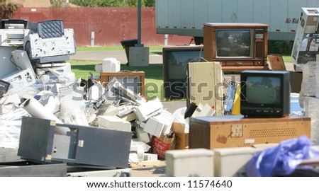 An E Waste pick up on Earth Day