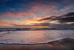 An Early Morning sunrise over Cocoa Beach, Florida, USA.