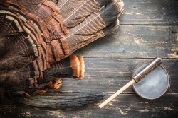 An eastern wild turkey hunting background.