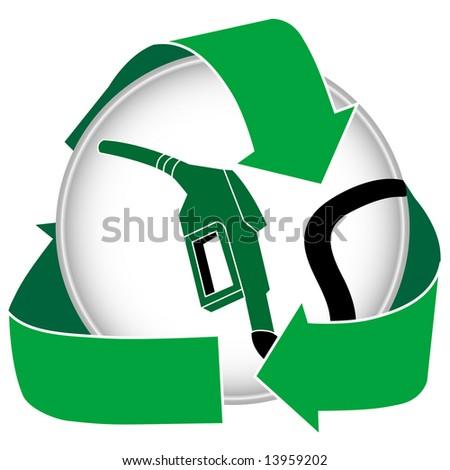 An eco friendly gasoline or bio diesel icon.