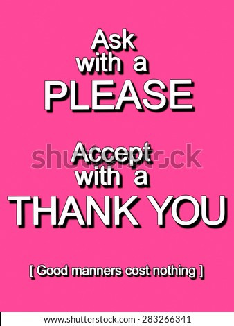 Say Please And Thank You Clipart