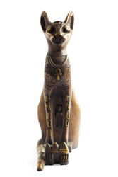 An Egyptian cat with white background