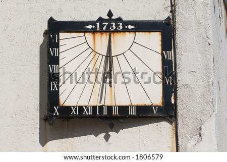 An eighteenth century sundial.