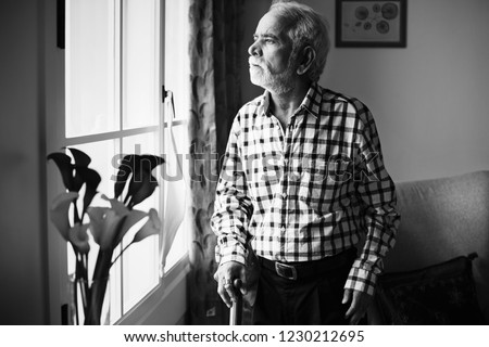 An elderly Indian man at the retirement home