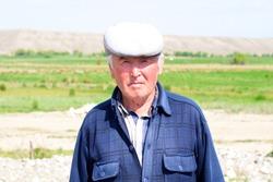 An elderly man from Kyrgyzstan
