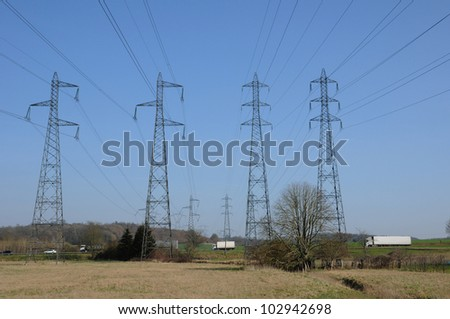 an electric line in Val d Oise
