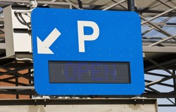 An Electronic Parking Sign