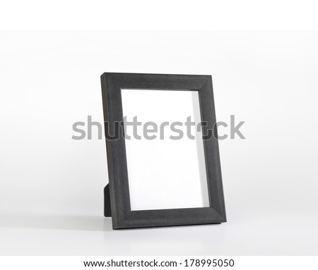 An elegant black desk photo frame
