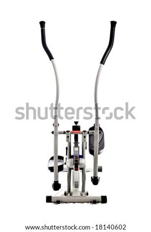 an elliptical stationary bike