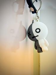 An emo hanging key chain