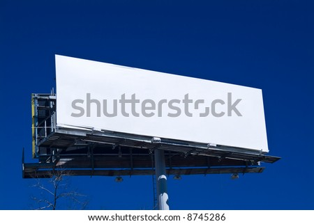 An empty billboard ready and available for advertising customers.