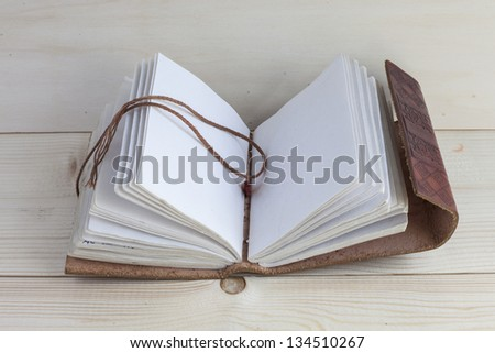 An empty book with leather cover