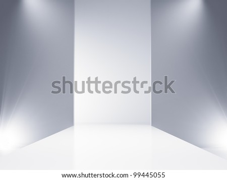 An empty catwalk stage set