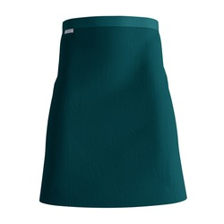An empty Classical Half Waist Apron Mockup In Green Eden Color, to help your design easier and more beautiful.