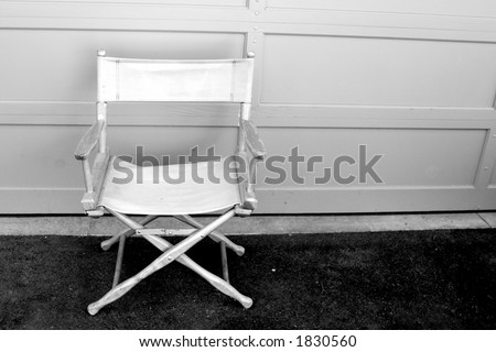 An empty director\'s chair